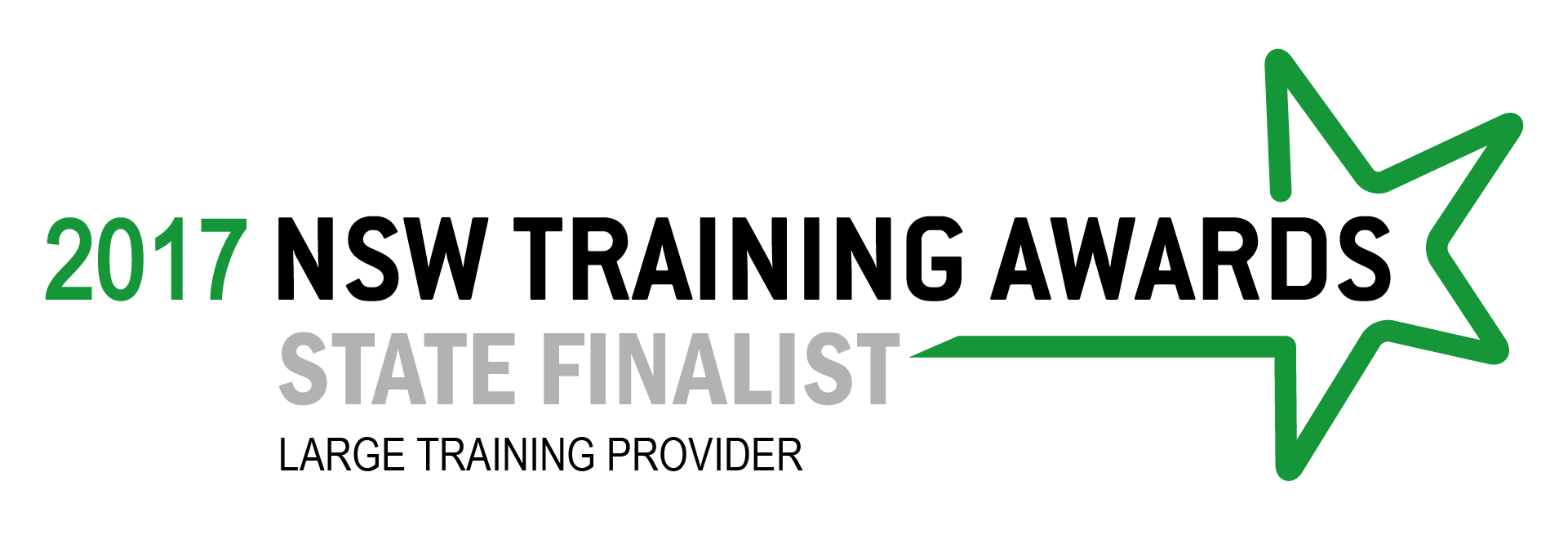 2017 NSW Training Awards Finalist LARGE training provider white hrztl