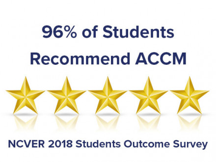 96 percent of students recommend accm